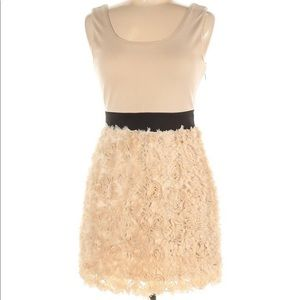 Mustard Seed Ivory Dress with Floral Skirt Size M